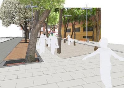 Reurbanización Barrio Xenillet. Vistas Plaza.