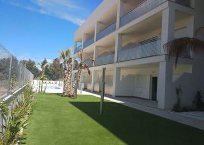 Apartamentos en playa Puçol. Casa Verde. Iluminación de jardín.