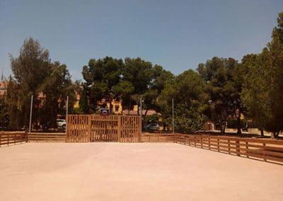 Jardín y Área recreativa la Marxadella. Vista Cancha.