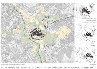 Diseño de entorno. Torre Arcos.  Límites de la ciudad.