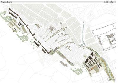 Estudio de bordes urbanos. Simat de la Valldigna. Plano de restauración.
