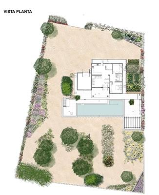 Jardín en Formentera. Planta general