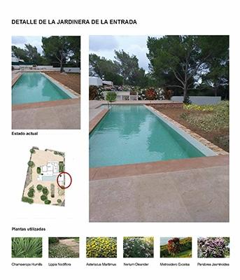Jardín en Formentera. Vista paellero